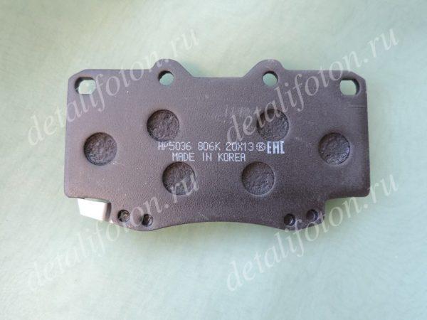 Колодка тормозная переднего правого суппорта наружная Фотон(Foton) Tunland PU201-3501027